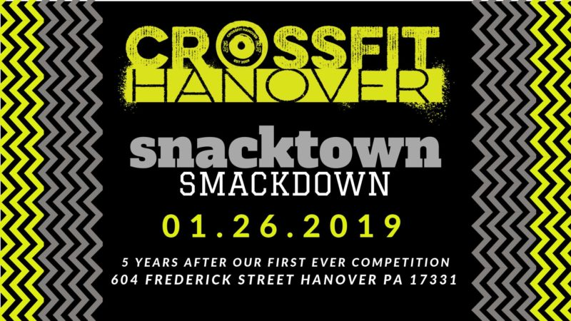 Jan 26 CFH's Snacktown Smackdown Competition